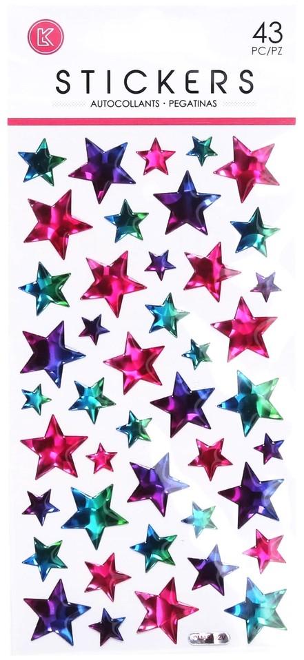 Gélové nálepky hviezdičky 43ks