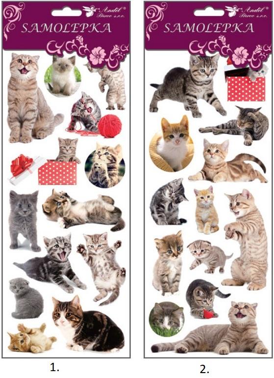 Samolepky mačky 12x35cm