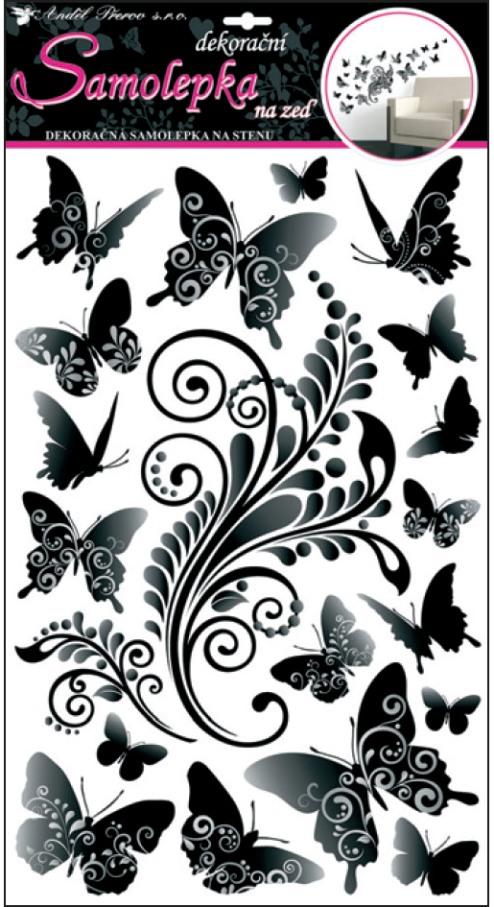 Nálepky - Motýle čiernošedé