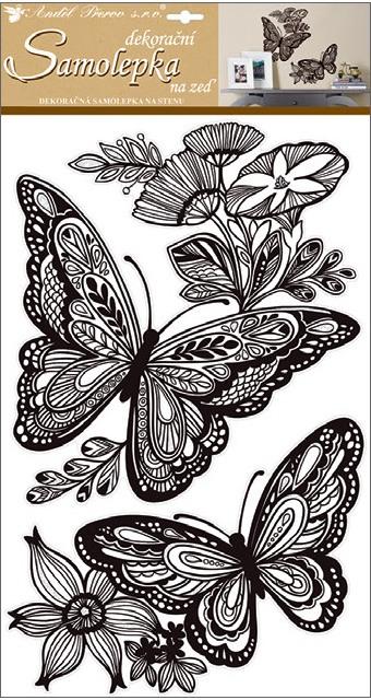 Nálepky Motýle mandala 59x33cm