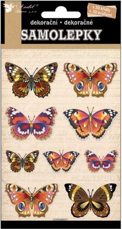 Nálepky - Motýle s 3D krídlami