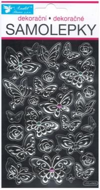 Nálepky - Motýle s kamienkami