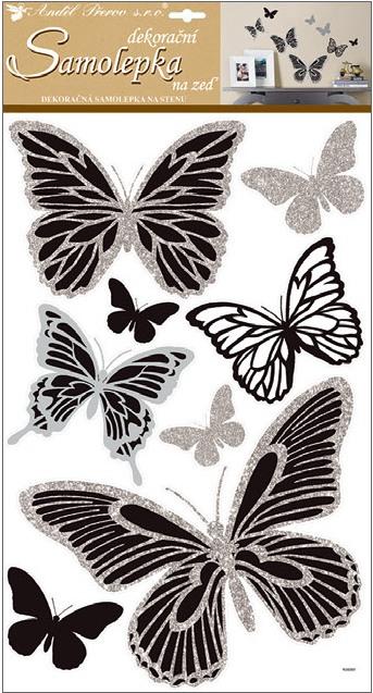Nálepky - Motýle strieborné