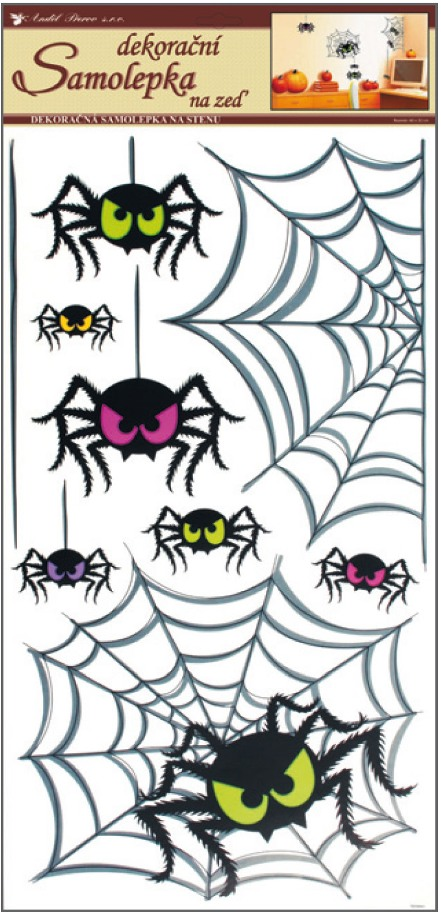 Samolepka Pavúky 68,5x32cm