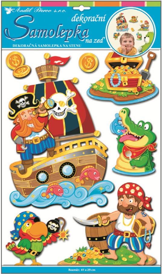 Nálepky - Piráti
