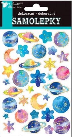 Nálepky - Planéty, hviezdy