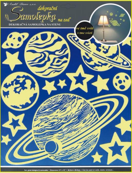 Samolapka Planéty svietiace 37x30cm