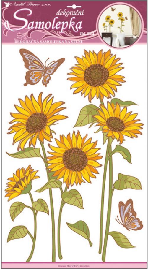 Nálepky - Slnečnice a motýľe