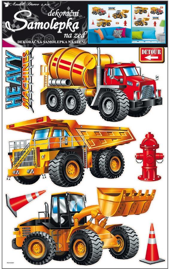 Nálepky - Stavebné stroje