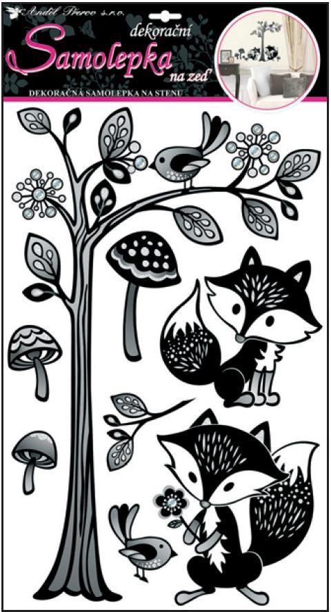 Nálepky - Strom s líškami
