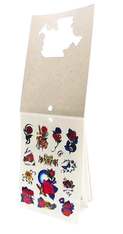Tetovacie nálepky set 12x18cm, 6 listov