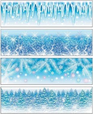 Vianočné nálepky 45x12cm - zmrznuté vločky
