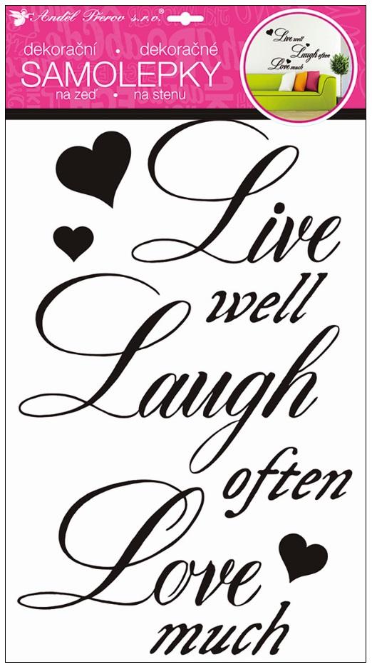 """Nálepky """"Žiť, smiať sa , milovať"""""""