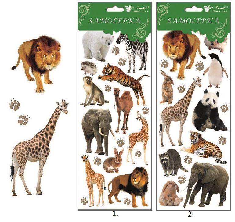 Samolepky Zoo 12x35cm