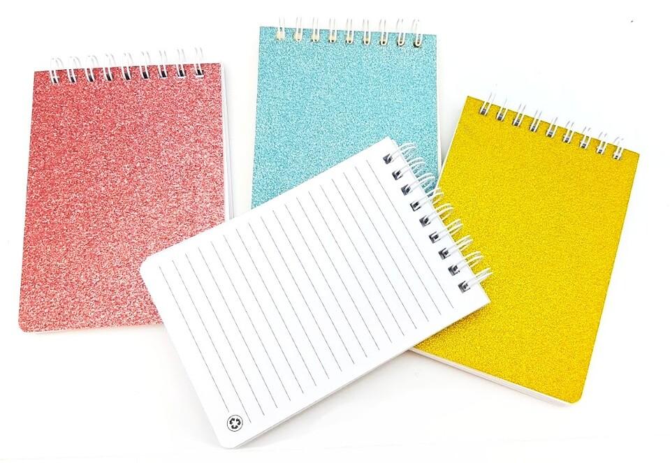 Notes 70-listov 9x12,5cm - strieborná