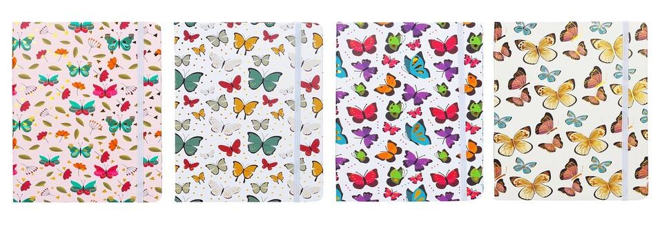Notes linajkový Motýľ 80listov/14,5x10,5cm