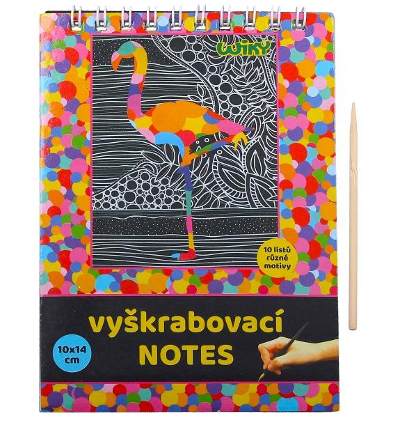 Vyškrabovací notes s perom 10x14cm/10listov