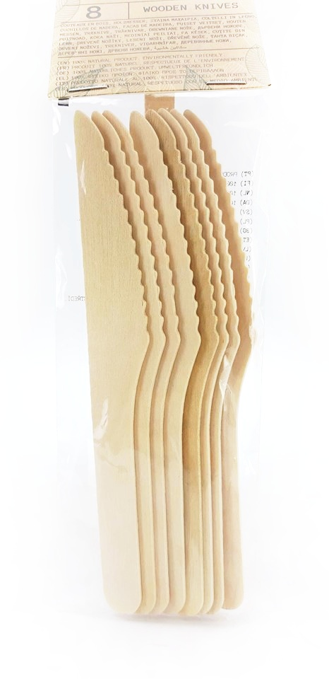 Drevené príborové nožíky 8ks