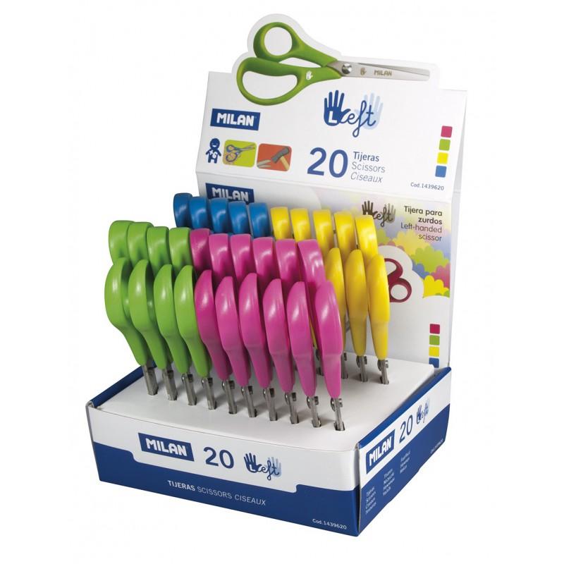 Školské nožnice pre lavákov 13,5cm - modrá
