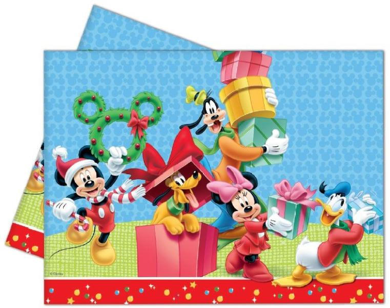 Obrus Mickey Vianoce 180x120cm
