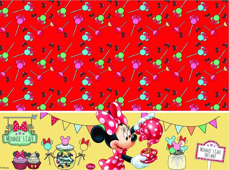 Obrus Minnie Mouse 180x120cm