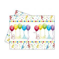 Obrus Happy Birthday 180x120 cm