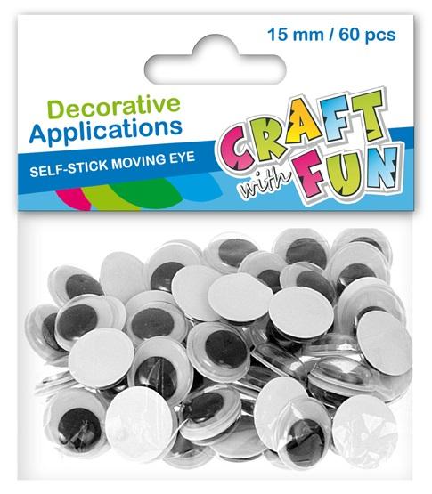 Craft Fun Dekorácia pohyblivé oči 60ks