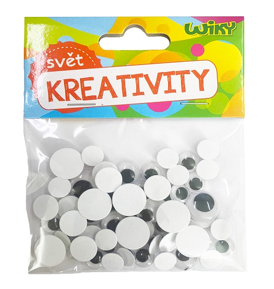 Kreativity Pohyblivé oči 60ks mix