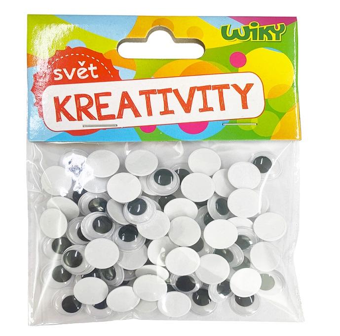 Kreativity Pohyblivé oči 12mm/80ks