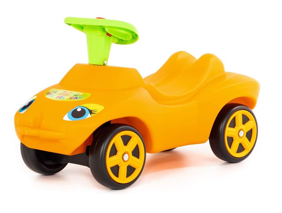 Odrážadlo auto My Lovely Car oranžové so zvukom