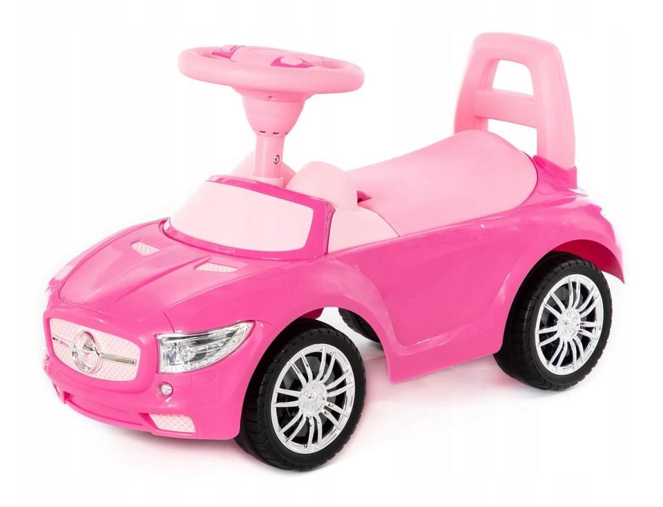 Detské auto odrážadlo SuperCar ružové
