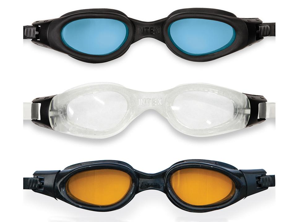 Intex 55692 Plavecké okuliare profi čierne s oranžovým sklom - modrá
