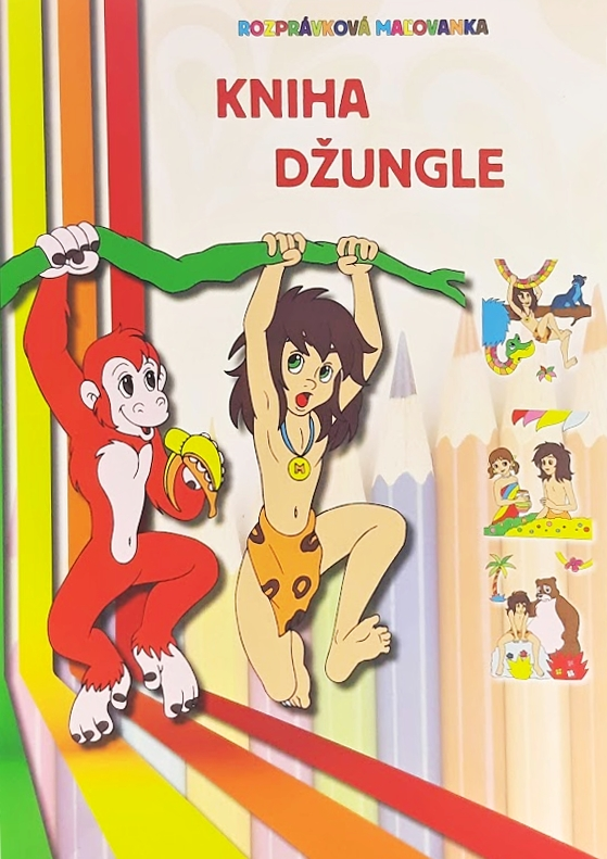 Rozprávková omaľovanka Kniha džungle