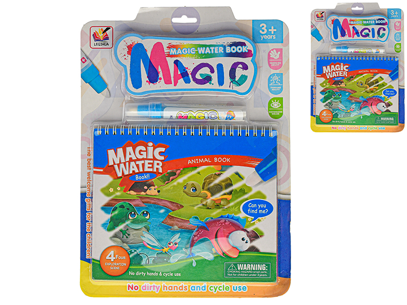 Omaľovánky vodové s magickým perom Zvieratá