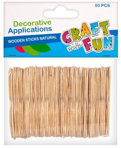 Craft with Fun Drevené paličky dekorácia 50ks