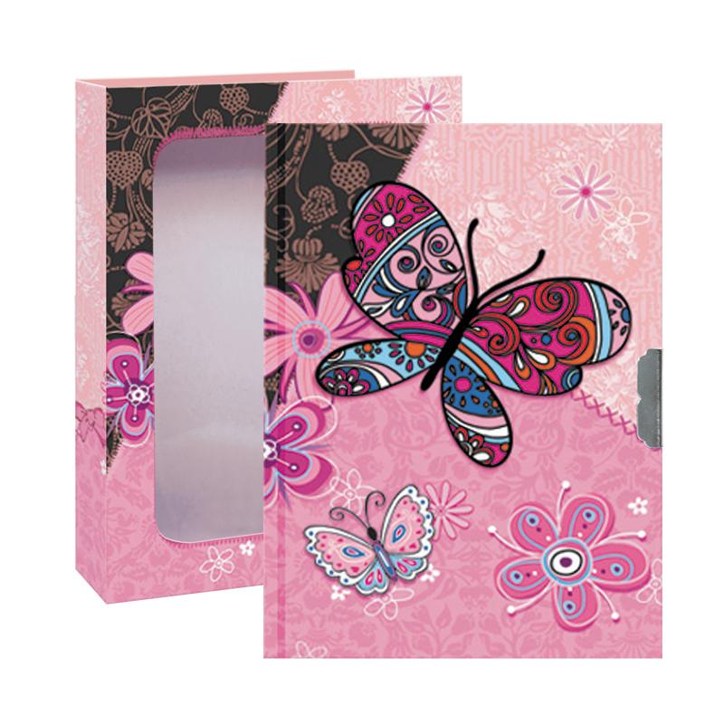 Diár so zámkom Dark Butterfly 17x12,5cm
