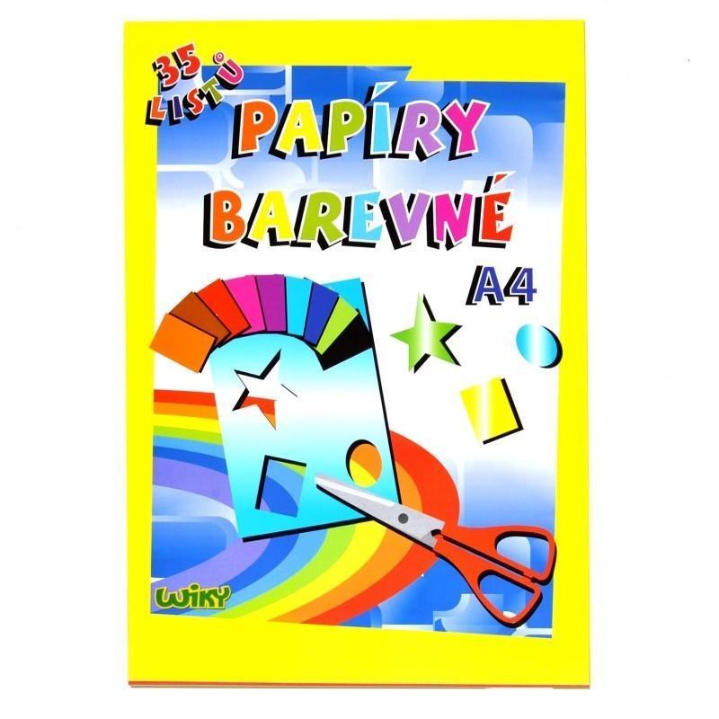 Farebný papier A4, 34 listov