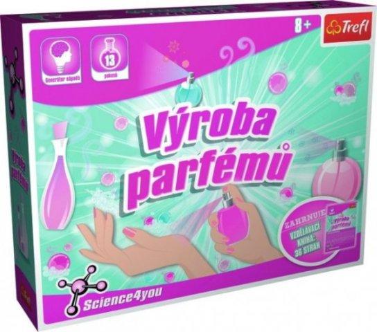 Výroba parfumov vedecká hra 13 pokusov Science 4 you
