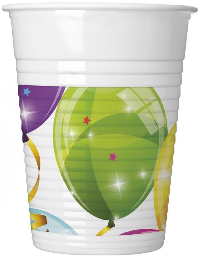 Poháre Balóny 200ml 8ks