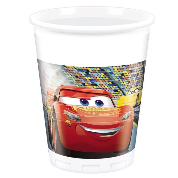 Poháre Cars 3, 200ml 8ks