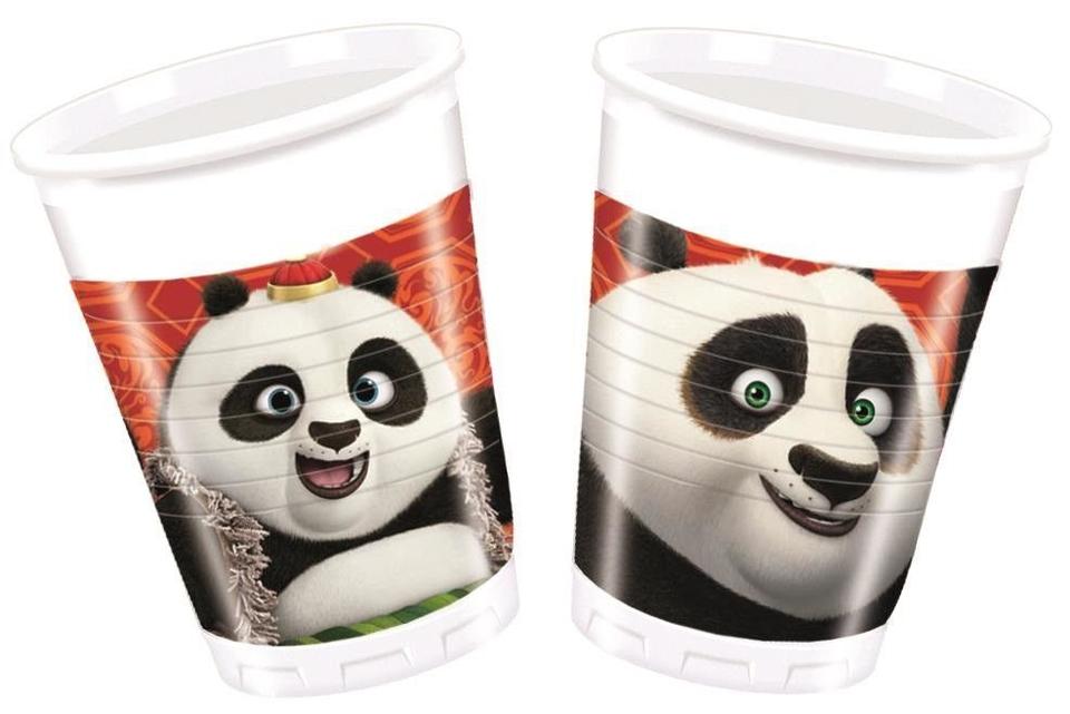 Poháre Kung Fu Panda 200ml 8ks