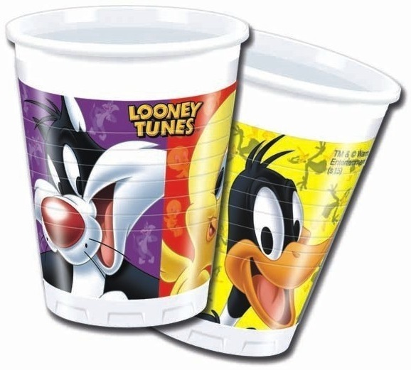 Poháre Looney Tunes 200ml 8ks