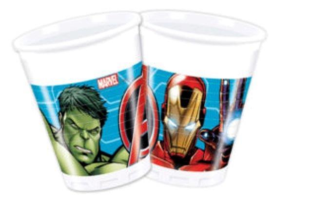 Poháre Avengers 200ml 8ks