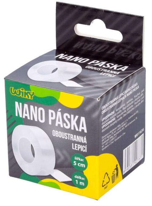 Obojstranná lepiaca nano páska 1mx5cm
