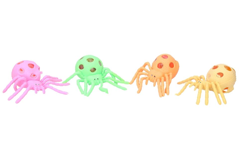 Stláčací pavúk 13cm - žltá