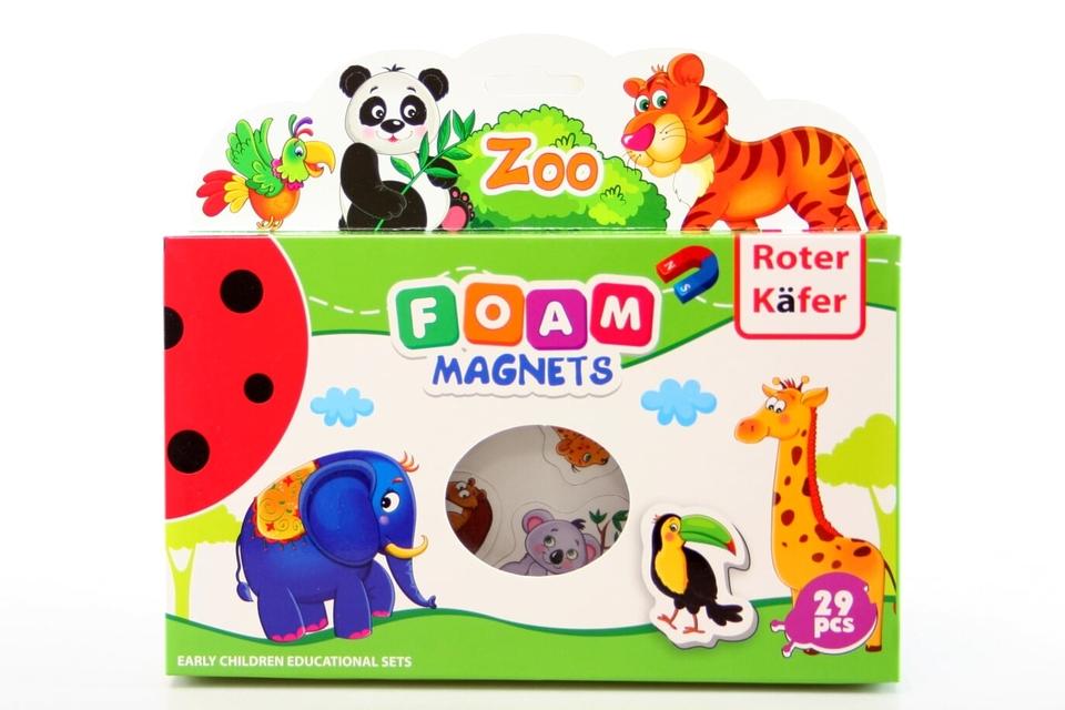 Penové magnetky - zoo