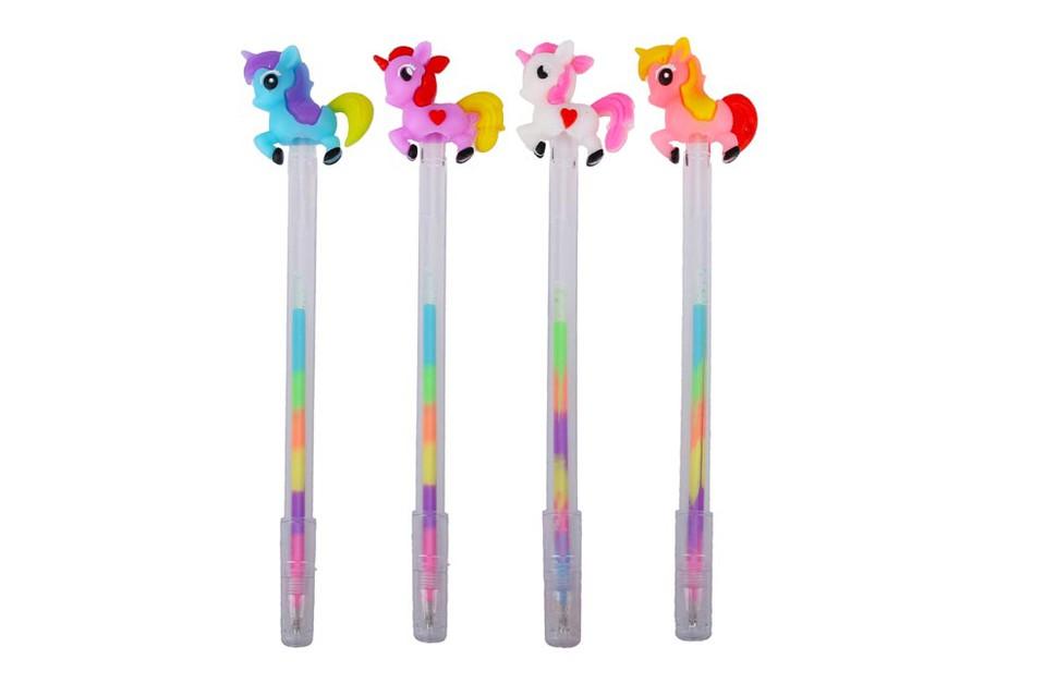 Pero gelové Jednorožec - ružová