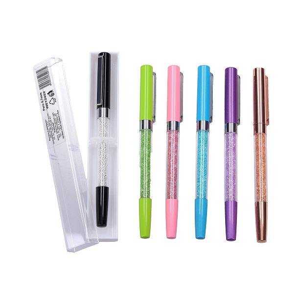 Guľôčkové pero 0,7mm s púzdrom - modrá