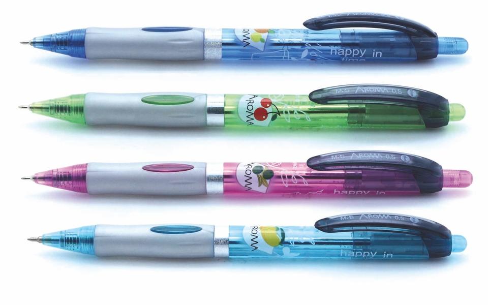 Guľičkové pero modré voňavé 0,5mm - náhodná