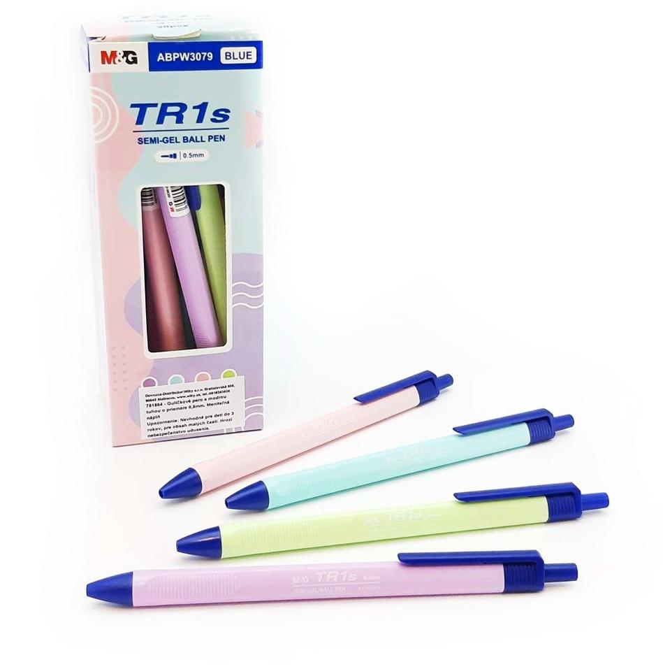 Guľôčkové pero modré TR1s 0,5 mm - ružová